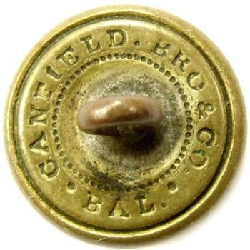 1850-60's Connecticut miltia CT 205 As.1 14.6mm Gilt Brass Georgewashingtoninauguralbuttons.com R