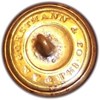 1850-61 Pennsylvania Militia PA 203 A.4 23mm Gilt Brass Georgewashingtoninauguralbuttons.com O
