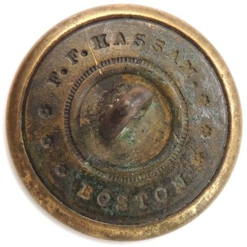 1850-65 Rhode Island 22.8mm Gilt Brass Dug Tidewater Va RI 203CA.2 RI 18 georgewashingtoninauguralbuttons.com R