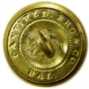 1850's Conn. Militia infantry 23mm Brass CT200As.1 georgewashingtoninauguralbuttons.com r