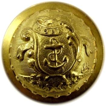 1850's-Post Rhode Island State Militia Staff Officers 22.7mm Gilt Brass 3-Piece RI 201 A.1 RI 7 RJ Silversteins georgewashingtoninauguralbuttons.com O