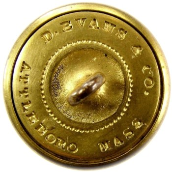 1850's-Post Rhode Island State Militia Staff Officers 22.7mm Gilt Brass 3-Piece RI 201 A.1 RI 7 RJ Silversteins georgewashingtoninauguralbuttons.com r