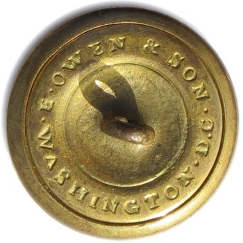 1853-63 U.S. Official Diplomat 25mm Gilt Brass OD 233 : OD 33 Non Dug Orig Shank R