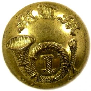1854 MASSACHUSETTS VOULENTEER MILITIA 15.3MM GILDED BRASS CUFF 1ST REG. OF VOL. INFANTRY. ALBERT MS41-TICES MS214As.1 georgewashingtoninauguralbuttons.com o
