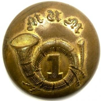 1854 Mass Militia 1st Reg. 23mm gilded brass georgewashingtoninauguralbuttons.com o