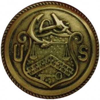 1859 Revenue Cutter FD-9-A  23mm Gilt Brass rj silversteins georgewashingtoninauguralbuttons.com O