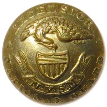 1860-70's NEW YORK ARTILLERY NATIONAL GUARD 21.02MM GILT BRASS 2-PIECE ALBERT'S NY 21 TICE'S NY 211 RJ Silverstein's geoergewashingtoninauguralbuttons.com O