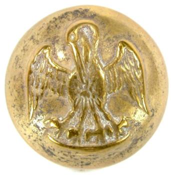 1860 Louisiana 20.5mm Gilt Brass LA 4 Tice LA 210A.1 RJ Silversteins georgewashingtoninauguralbuttons.com O
