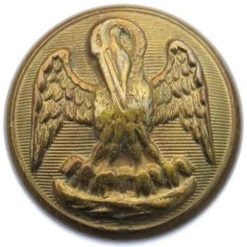 1860 Louisiana Militia 22mm Gilt Brass LA 204 A.2 : LA 3A Desirable B :M Orig Shank PD $400 1-23-16 RJ Silversteins georgewashingtoninauguralbuttons.com O