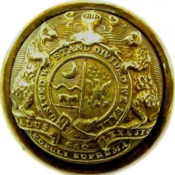 1860 Missouri State Seal 22.3mm Gild Brass MO 200 RJ Silversteins georgewashingtonbuttons.com O