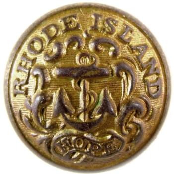 1860 Rhode Island State Militia 14.6mm Gilt Brass TICE's RI203As.1 RI 8 RJ Silversteins georgewashingtoninauguralbuttons.com O