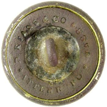 1860 Rhode Island State Militia 22.9mm Gilt Brass TICE's RI203C.1 RI 8 RJ Silversteins georgewashingtoninauguralbuttons.com R