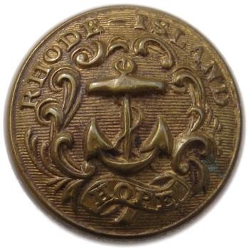 1860 Rhode Island State Militia 23.35mm Gilt Brass TICE's RI203A.2 RI 8 RJ Silversteins georgewashingtoninauguralbuttons.com O