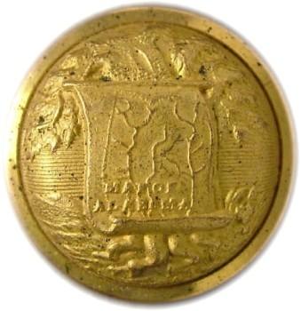 1860's Alabama Officer's Staff Button 23mm Gilt Brass Tice AB200A.2 - AB1A.5 RJ Silversteins georgewashingtoninauguralbuttons.com O