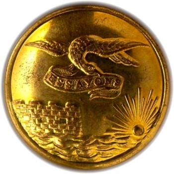 1860's Federal Engineers 22.7mm Gilt Brass Albert EG6G Tice EG215 F.Unlisted RJ Silversteins georgewashingtoninauguralbuttons.com O