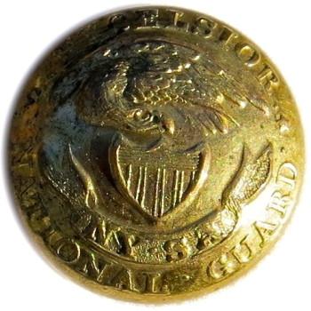 1860's NEW YORK ARTILLERY NATIONAL GUARD 20MM GILT NY 20 TICE'S NY 210-I georgewashingtoninauguralbuttons.com O