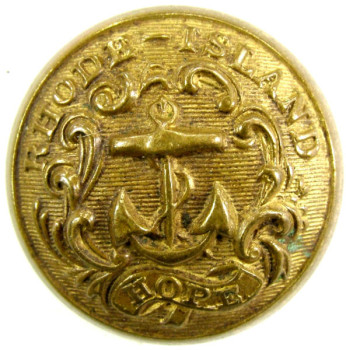 1860's RHODE ISLAND's MILITIA GENERAL USE STATE SEAL ANCHOR AND HOPE 23MM GILDED BRASS PAID $95. 4-3-12