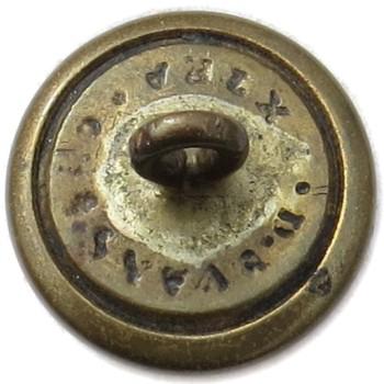 1860's Rhode Island 15.28mm Gilt Brass RI 203Cs.2 RI 8 RJ Silversteins georgewashingtoninauguralbuttons.com R