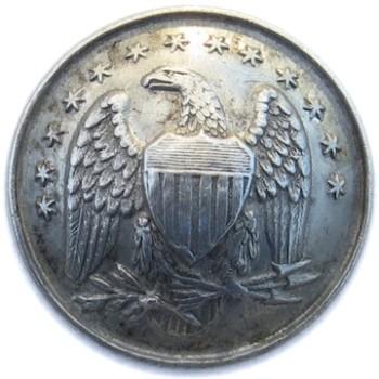 1861-65 Pennsylvania 83rd Volunteer Regt. 23.01mm White Metal RJ Silversteins georgewashingtoninauguralbuttons.com O