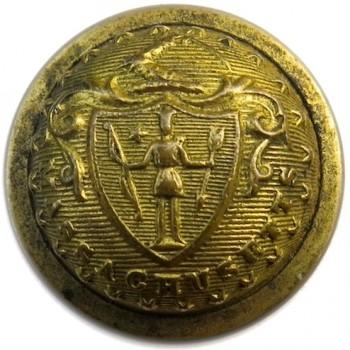 1865 Massachusetts Militia 22.88mm Brass Albert MS 28 24 Stars :Tice MD202D.1 RJ Silversteins georgewashingtoninauguralbuttons.com O