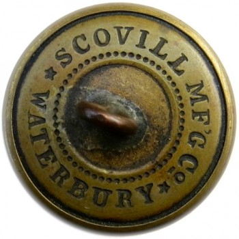 1865 Massachusetts Militia 22.88mm Brass Albert MS 28 24 Stars:Tice MD202D.1 Paid $3.50 9-05-12 R