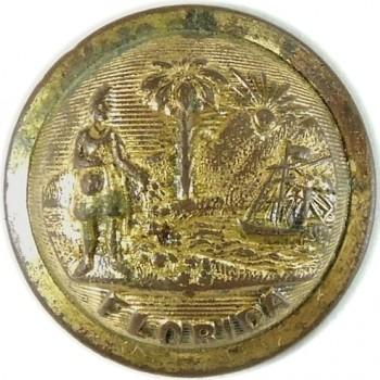 1880's Florida State Militia 3-Piece Convex 23mm Brass Officers Albert FL 4 georgewashingtoninauguralbuttons.com O