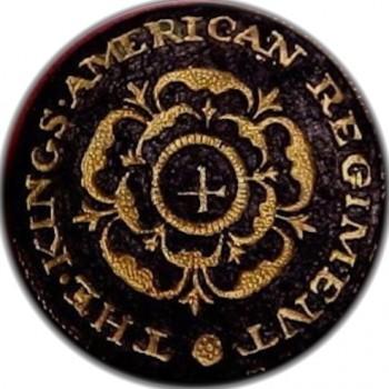 Kings American 4th Regiment 1770's Gilt Brass 23mm orig shank o