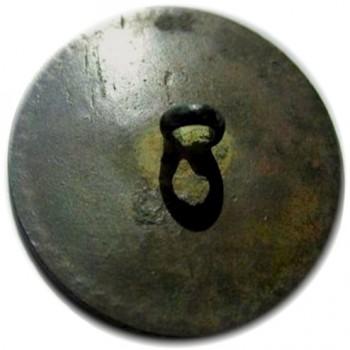 WI 12-B 34mm 54 ind. Brass Dale's Button Green Patina rj silverstein's georgewashingtoninauguralbuttons.com R