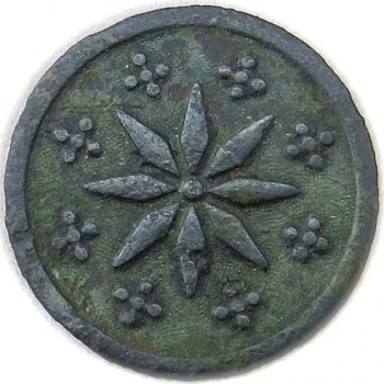 ZA 1778-83 8 Point Star Button Made By P. Du Simitiere & Robert Scot 2 Washington Spy Button