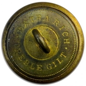 1860-65 CONFEDERATE ARMY OFFICER 24MM GILT BRASS ALBERT'S CS 5A.3- TICES CS205A.5 ORIG SHANK PD$141. 06-17-13 R