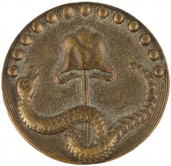 1770's Rattlesnake Gilt Brass RJ Silverstein georgewashingtoninauguralbuttons.com O
