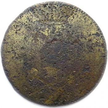 1790-1800's Stone Mason Fraternity 32.94mm Gilt Brass Orig. Shank