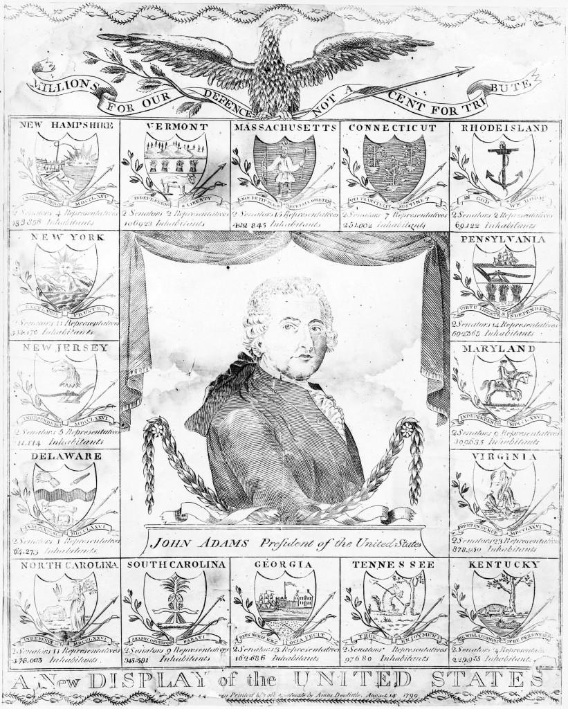 Amos_DoolittleA New Display of the US 1799 John Adams georgewashingtoninauguralbuttons.com O