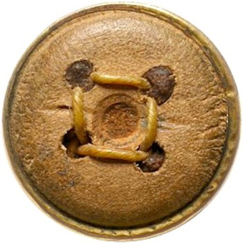 French officers button 1780 17mm uniform vest button gilt with wood and cat gut cord E.A. aug 16, 2008 $1 r